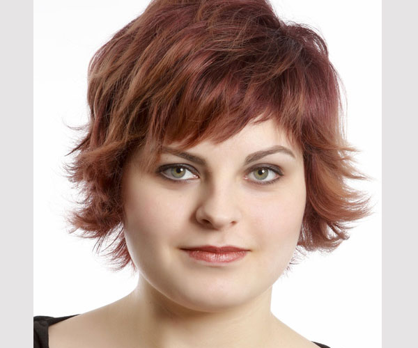 Hair styles for round chubby faces