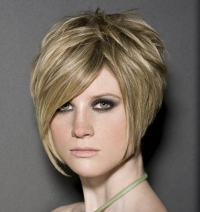 Short Stacked Hairstyles With Bangs