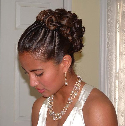 black childrens hairstyles : wedding hairstyles for black women with medium length hair Wedding ...