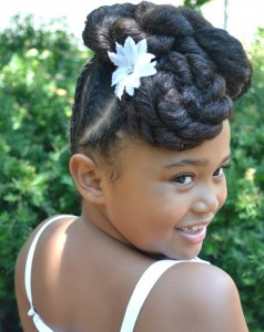 Black Flower Girl Hairstyles