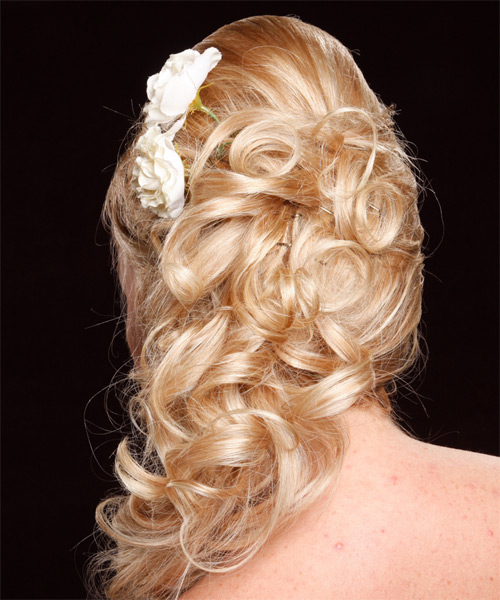 Long Curly Prom Hairstyles Half Up Half Down | HAIRSTYLE GALLERY