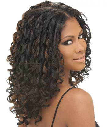 Curly And Long Black Weave Hairstyles 4