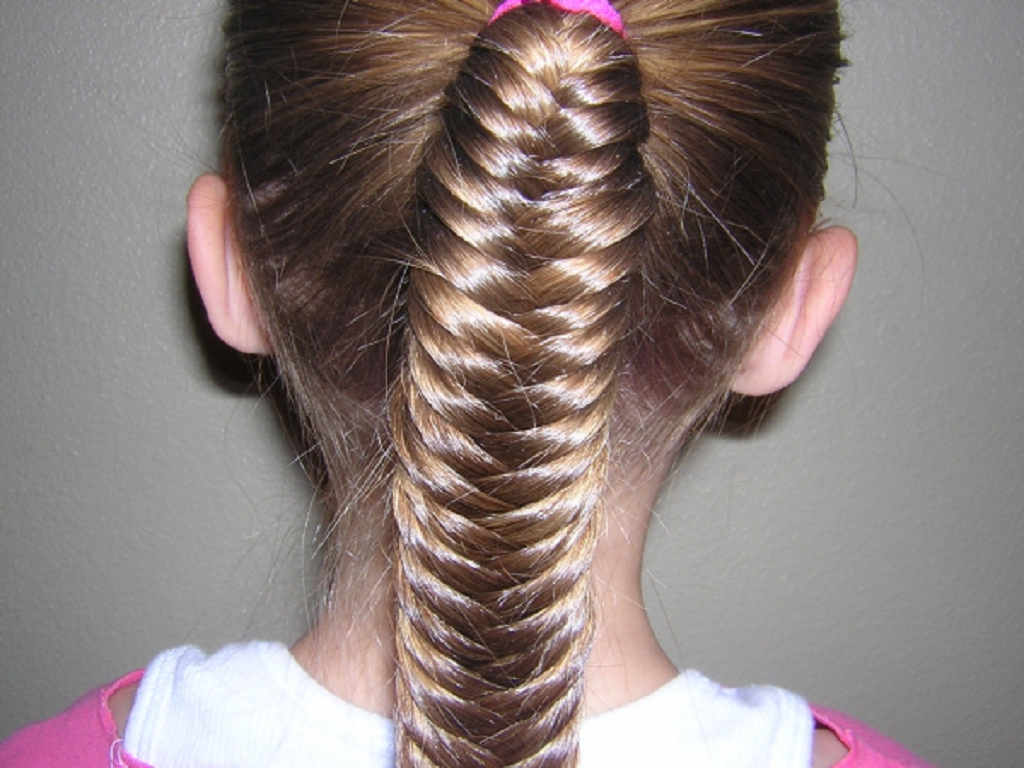 Fish Braid Hairstyles for Girls