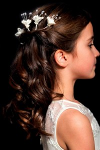 Hairstyles For Flower Girls With Long Hair