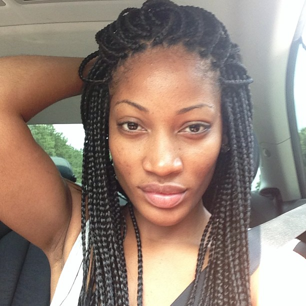 Long Box Braid Hairstyles