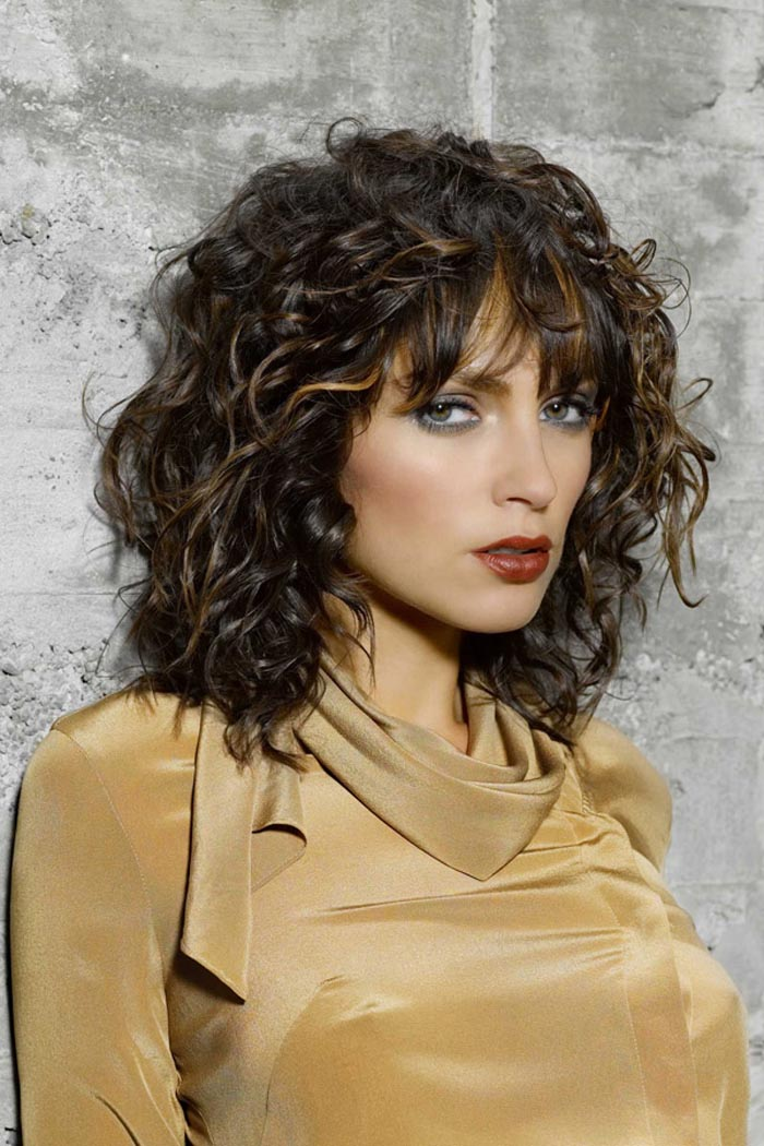 Medium Length Curly Hairstyles With Bangs - kitharingtonweb