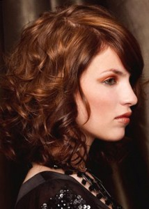 Medium Curly Hairstyles With Bangs