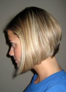 Short Angled Bob Hairstyle