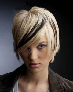 Short Blonde and Black Hairstyles