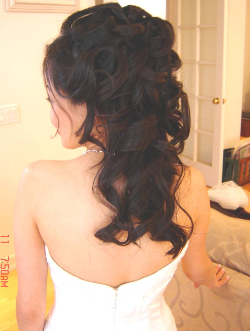 Hairstyles Up And Down : Half Up Half Down Wedding Hairstyles Beautiful Hairstyles