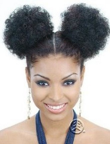 age 50 hairstyles : Afro Puff Hairstyles