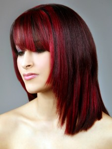 Black and Red Hairstyles