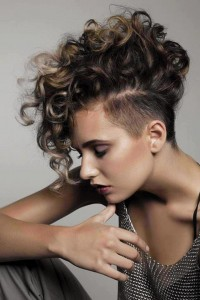 Curly Mohawk Hairstyles Images