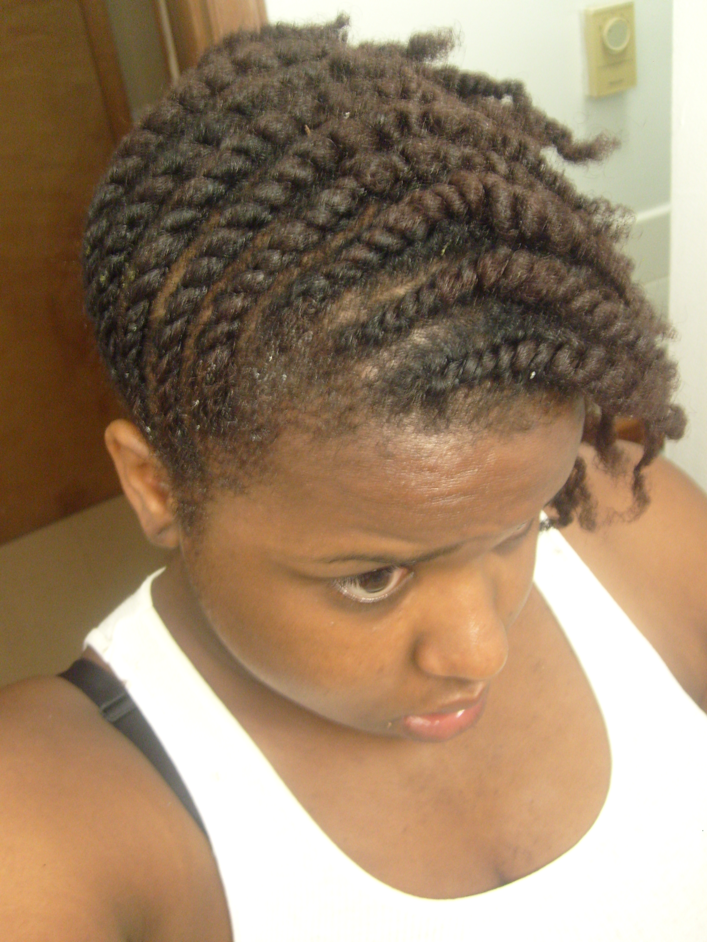 Braided Bun Natural Hair