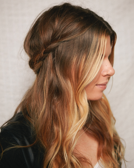 Model Your Hair Hair Romance And Half Braided Hairstyles On Pinterest