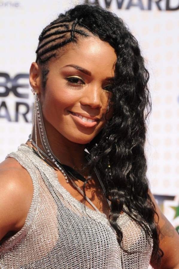 pretty black hairstyle with half half braided hairstyles beautiful hairstyles 95813