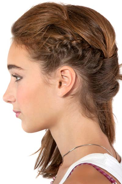 Cool Take The Box Braid Hairstyle Half Up And Half Down With A Topknot Bun