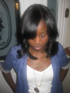 Invisible Part Sew In Weave Hairstyle