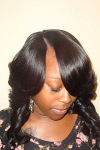 Invisible Part Sew In Weave Hairstyle Pictures