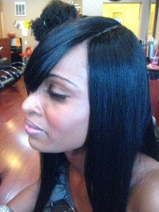 Invisible Part Sew In Weave Hairstyles Pictures