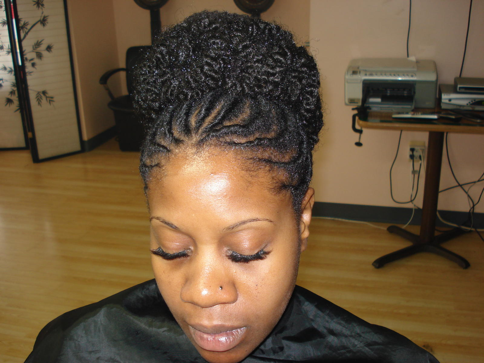 Natural twist hairstyles black women and