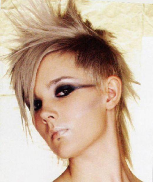 Прическа короткие волосы панк