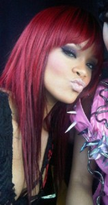 Rihanna Red Hairstyles