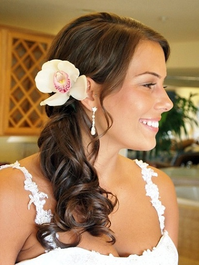 side wedding hairstyles : Side Ponytail Hairstyles Beautiful Hairstyles