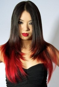 Black Hairstyles With Red Highlights