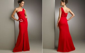 Hairstyles For One Shoulder Dresses Images
