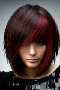 Short Black Hairstyles With Color